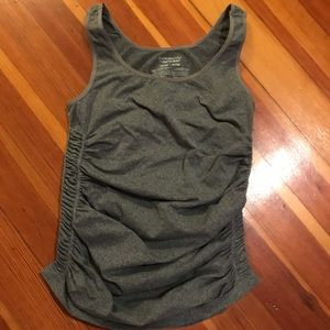 Maternity ruched workout tank